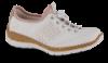 Rieker Damesko med snøre Hvid N42G8-80
