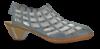 Rieker damepump blå/grå 46778-13