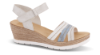 Rieker damesandal hvit/sand/blå 61955-80
