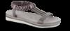 B&CO damesandal grå metallic
