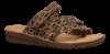 Relaxshoe damesandal sort/leopard 319-034