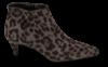B&CO kort damestøvlett grå leopard