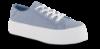 CULT lærredssneaker lysblå
