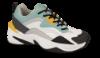 CULT sneaker hvit, aqua, gul