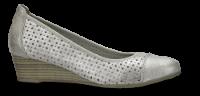 Jana damepump hvid/sølv. 8-8-22365-20