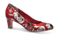 Tamaris damepumps rød blomstret 1-1-22418-22