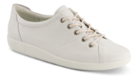 ECCO Damesko med snøre Hvid 20650301007  SOFT 2.0