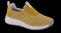 Rieker strikksko karri gul N5595-68