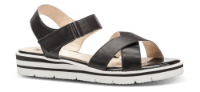 Caprice dame sandal sort 9-9-28200-22