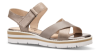 Caprice dame sandal taupe 9-9-28200-22