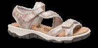 Rieker  damesandal sølv/rosa 68869-90