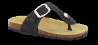 Mia Maja sandal sort glitter 4811100112