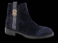 Tommy Hilfiger kort damestøvlett marineblå FW0FW05184
