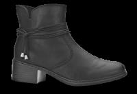Rieker kort damestøvle sort 77658-00