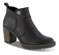 Rieker kort damestøvle sort L9283-00