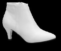 Duffy kort damestøvlett hvid 97-85601