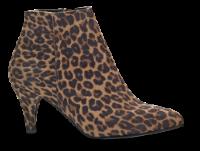 Duffy kort damestøvle leopard 97-85601