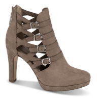 Tamaris kort damestøvle beige 1-1-25327-33