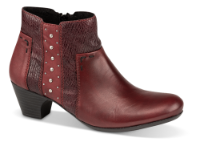 Rieker kort damestøvle bordeaux 70571-35