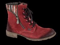 Rieker kort damestøvle bordeaux 70840-35