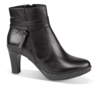 Tamaris kort damestøvle sort 1-1-25094-23