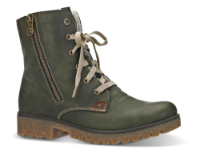 Rieker kort damestøvle grøn 79839-54