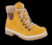 Rieker kort damestøvle gul Y9430-68