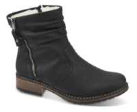 Rieker kort damestøvle sort Z6841-01