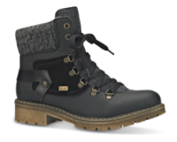 Rieker kort damestøvle sort Y9143-01