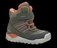 ECCO børnestøvle grøn/orange 754711 URBAN MIN