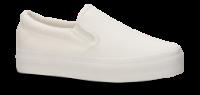 CULT dame-lerretssko hvid