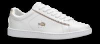 Lacoste damesneaker hvit metallic CARNABY EVO 118