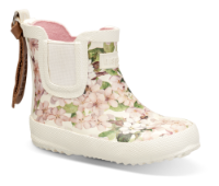 Bisgaard barnegummistøvel cremefarget blomst 92010999