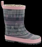 Skofus barnegummistøvel grå/rosa