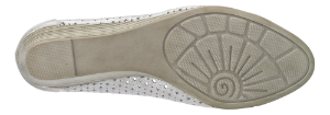 Jana damepump hvit/sølv. 8-8-22365-20