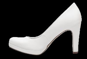 Tamaris damepump hvid 1-1-22426-22