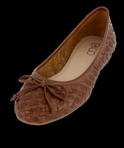 B&CO dameballerina brun