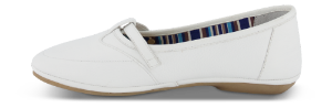 B&CO dameballerina hvid