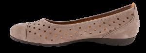 Gabor dameballerina lys brun 44169