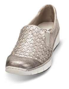 Rieker dame slip-in grå/metallic 537W4-40