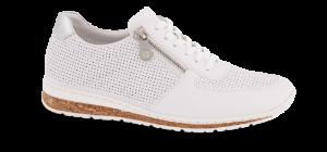 Rieker damesneaker hvit N5127-80