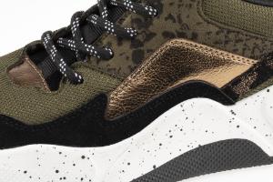 B&CO damesneaker sort /grønn