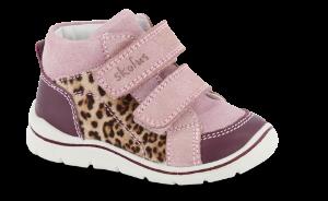 Skofus babystøvle bordeaux/rosa