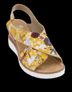 Rieker damesandal gul blomst V35H6-90