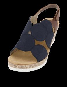 Rieker damesandal mørkeblå/brun 61919-14