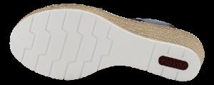 Rieker Damesandal med hæl Blå 61940-14