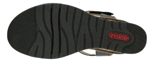 Rieker Damesandal med hæl Sort V3554-00