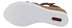 Rieker Damesandal med hæl Brun V3863-24