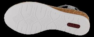 Rieker Damesandal med hæl Blå V38H8-12