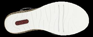 Rieker Damesandal med hæl Sort V3550-00